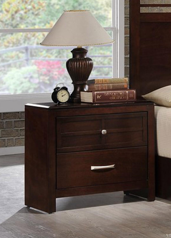 Global Furniture USA Abbey Nightstand - Merlot