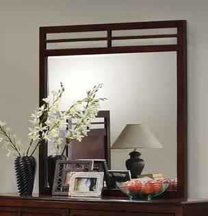 Global Furniture USA Abbey Mirror - Merlot