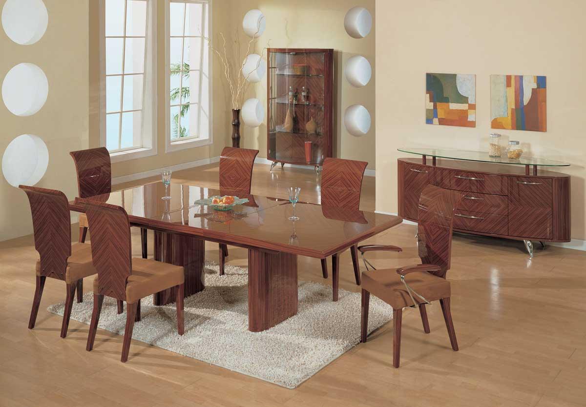 Global Furniture USA Adriana Dining Set-Zebrano