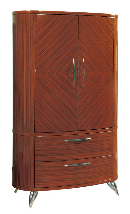 Global Furniture USA Adriana Armoire-Light Zebrano