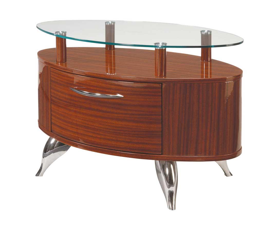 Global Furniture USA Adriana Slat Bedroom Collection-Light Zebrano