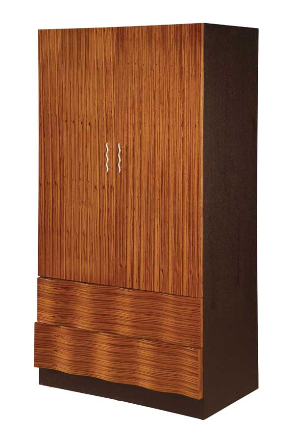 Global Furniture USA Amanda Armoire-Zebrano