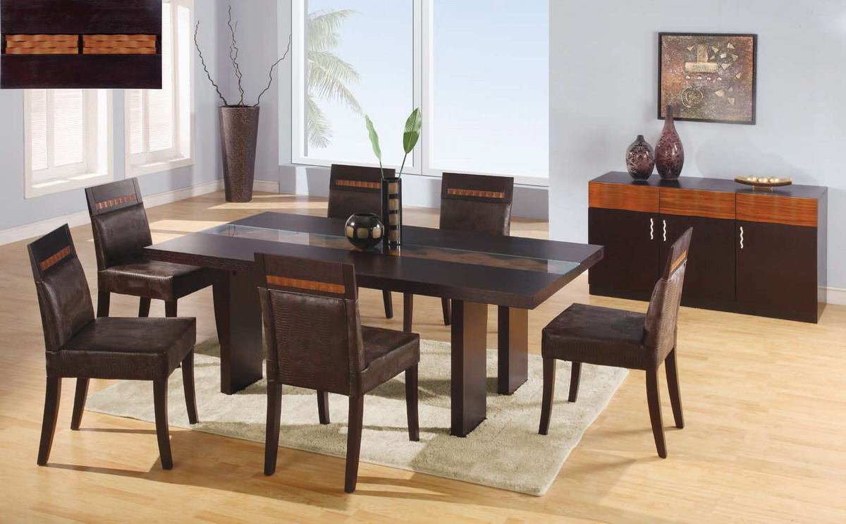 Global Furniture USA Amanda Dining Set - Dark Brown
