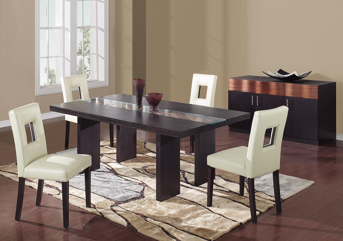 Global Furniture USA Amanda Dining Set - Beige