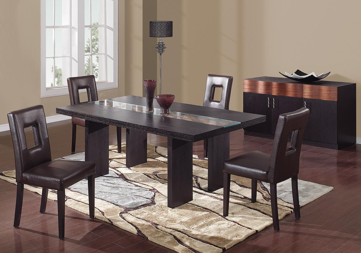 Global Furniture USA Amanda Dining Set - Brown