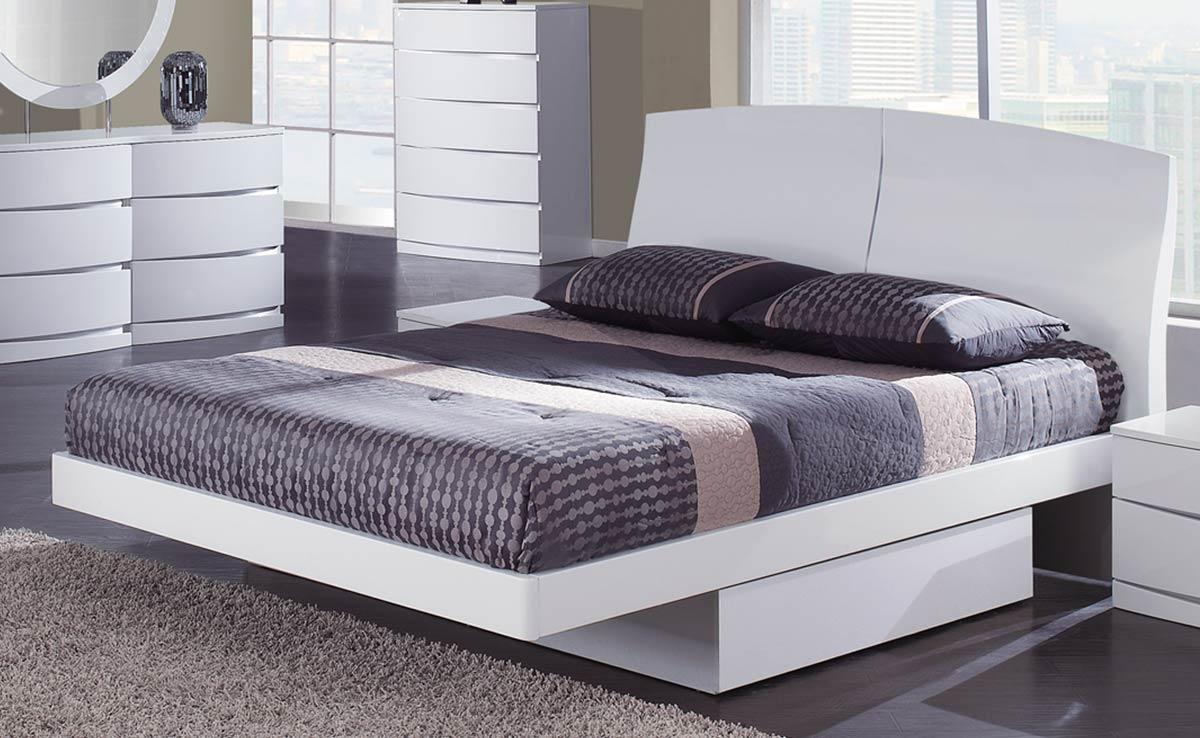 Global Furniture USA Aria Platform Bed - White