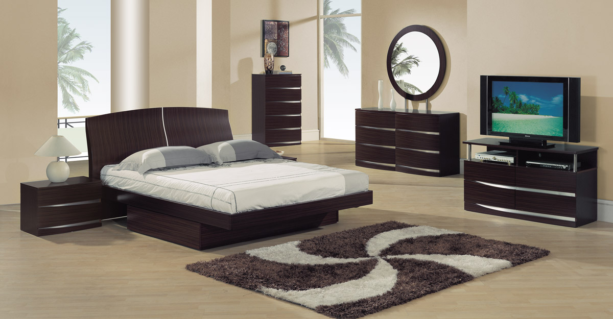 Global Furniture Usa Aria Platform Bedroom Set Sapelle
