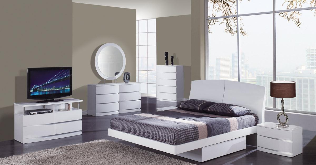 Global Furniture USA Aria Platform Bedroom Set - White