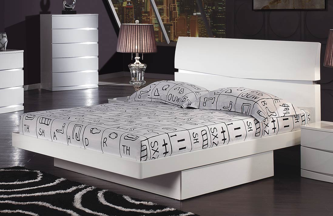 Global Furniture USA Aurora Platform Bed - White