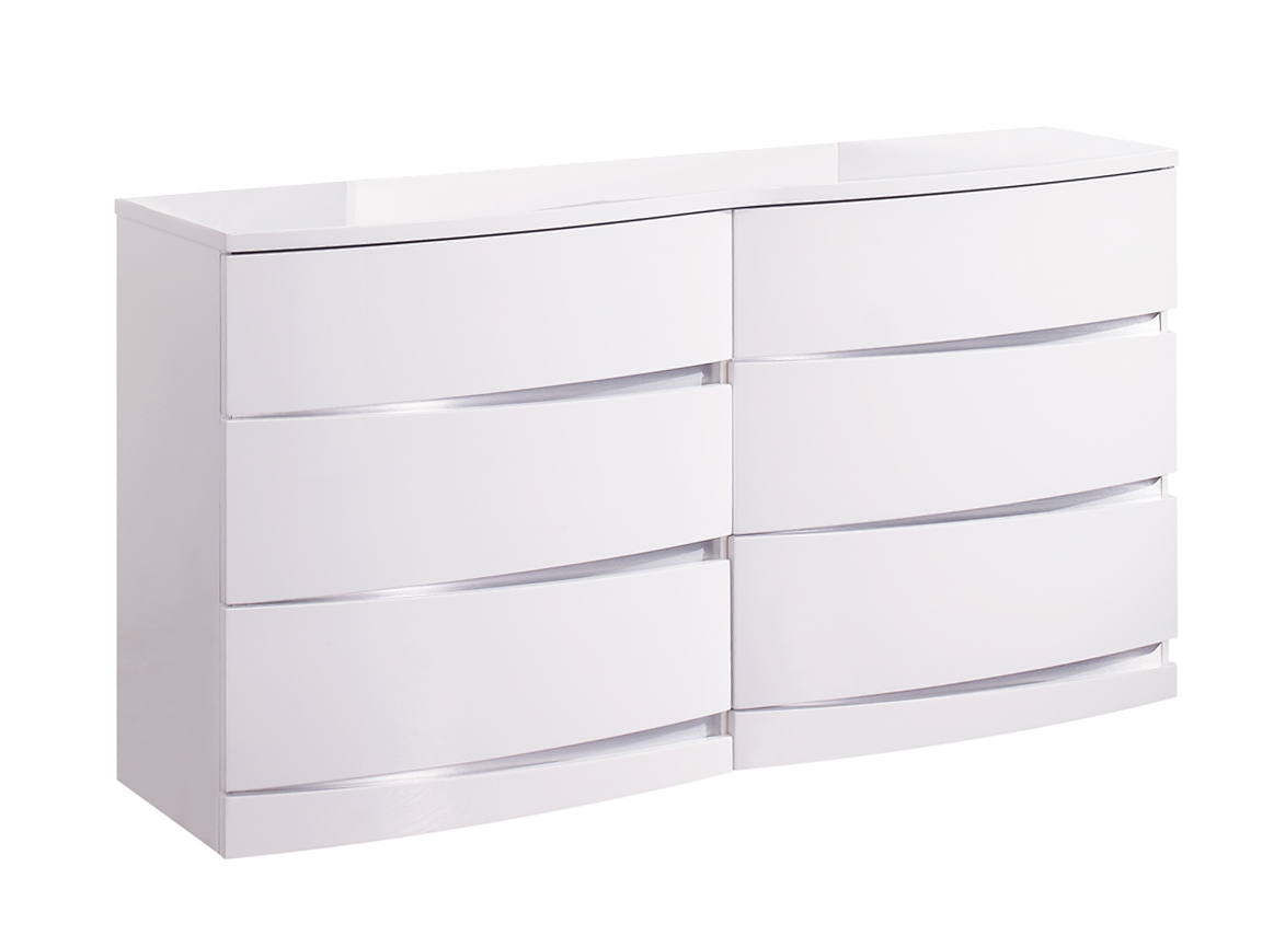 Global Furniture USA Aurora Dresser - White