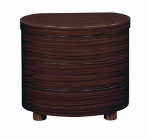 Global Furniture USA B110 Night Stand - Dark Brown
