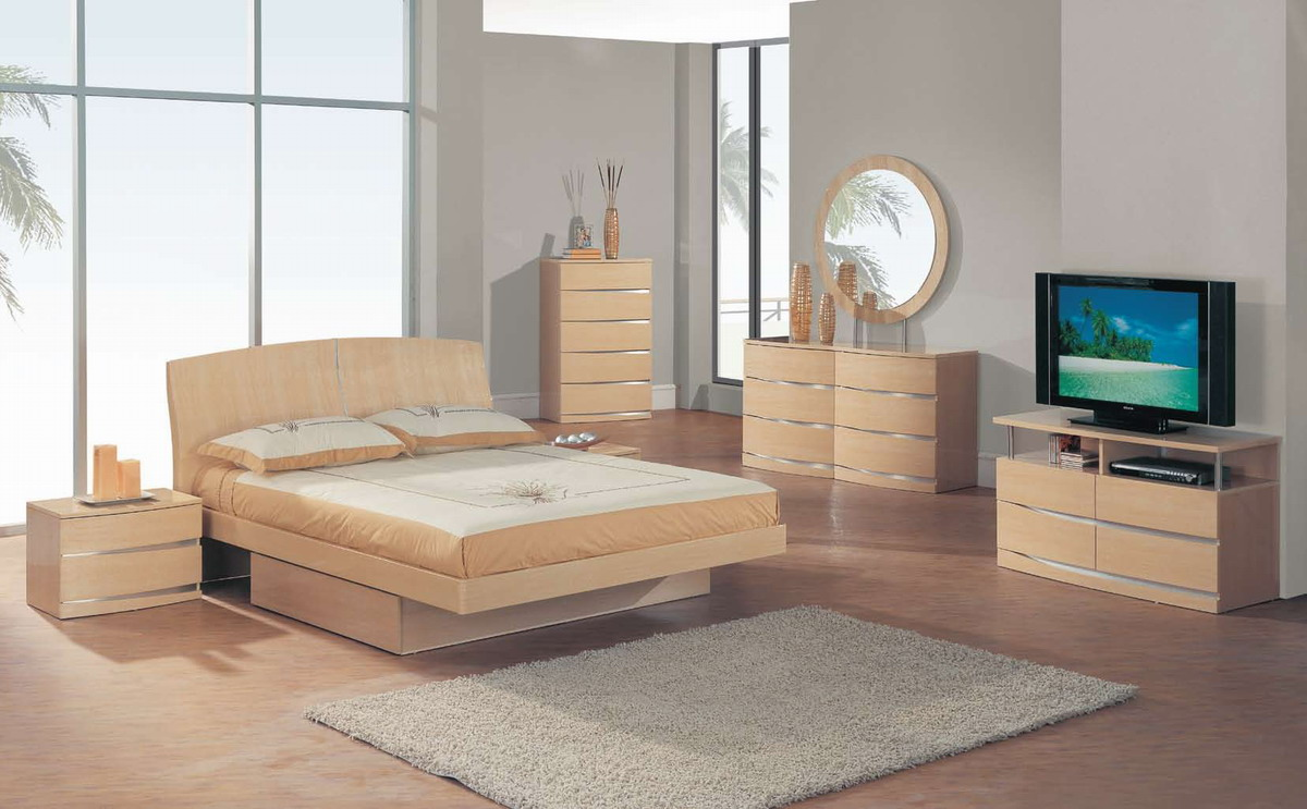 the b63 bedroom by global furniture has a contemporary design with