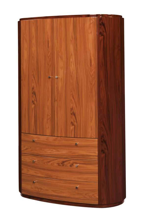 Global Furniture USA B92 Armoire-Two Tone Brown
