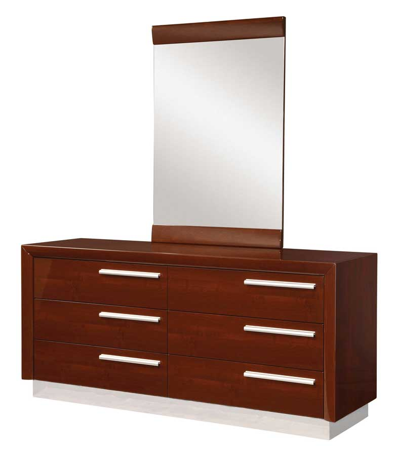 Global Furniture USA B99 Bedroom Collection-Brown with Leather Headboard