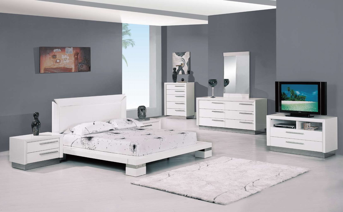 Global Furniture USA B99 Bedroom Collection In White
