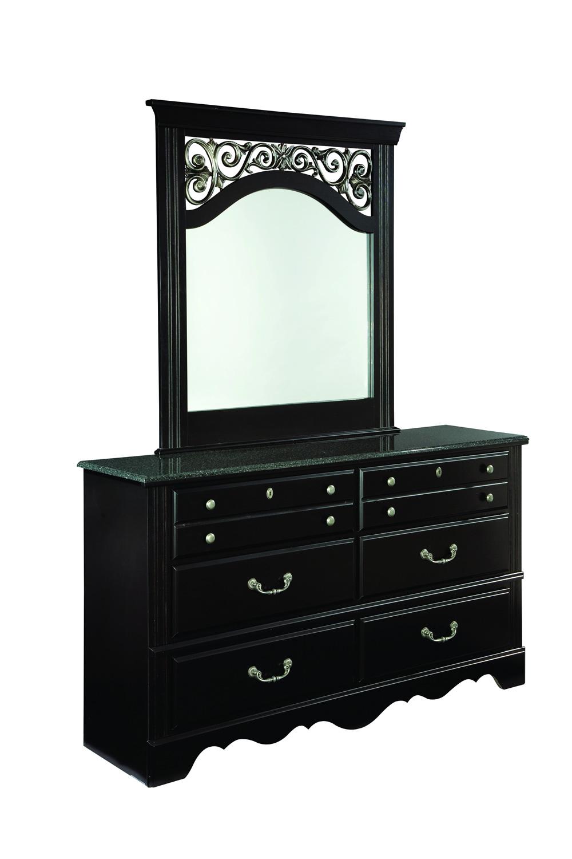Global Furniture USA Brooklyn Mirror - Black