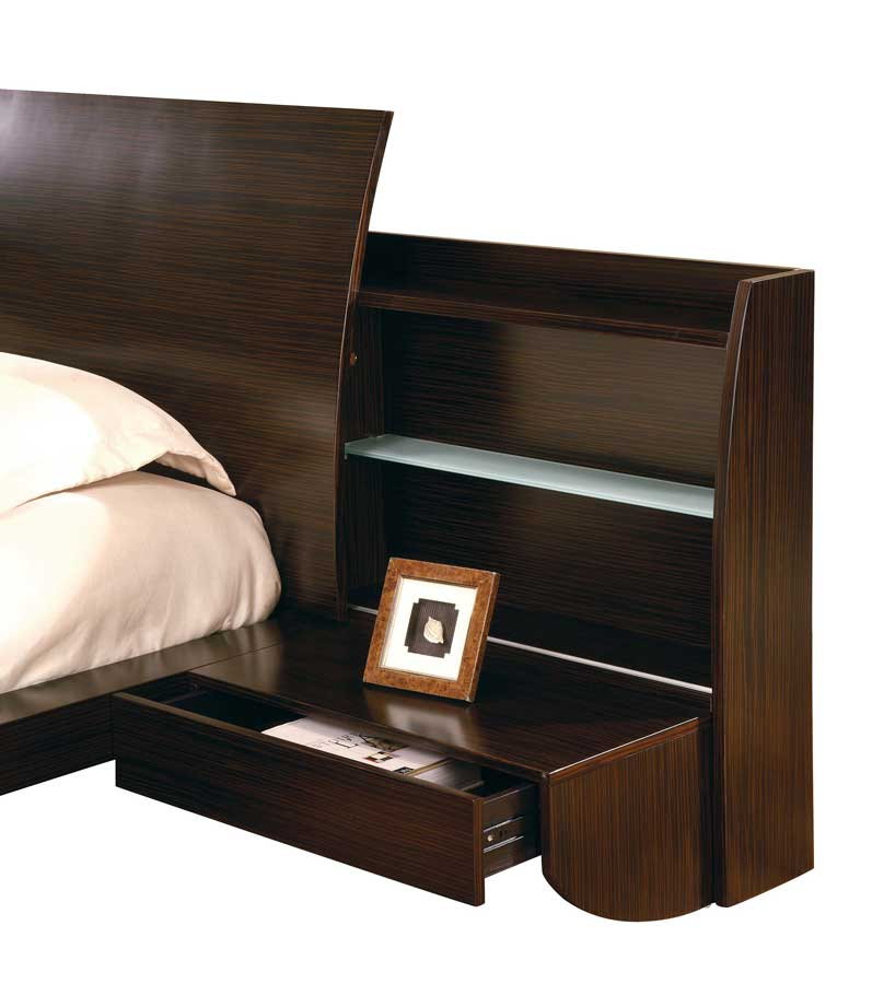 Global Furniture USA Capri Slat Bedroom Collection - Dark Zebrano-Beige Micro Fiber