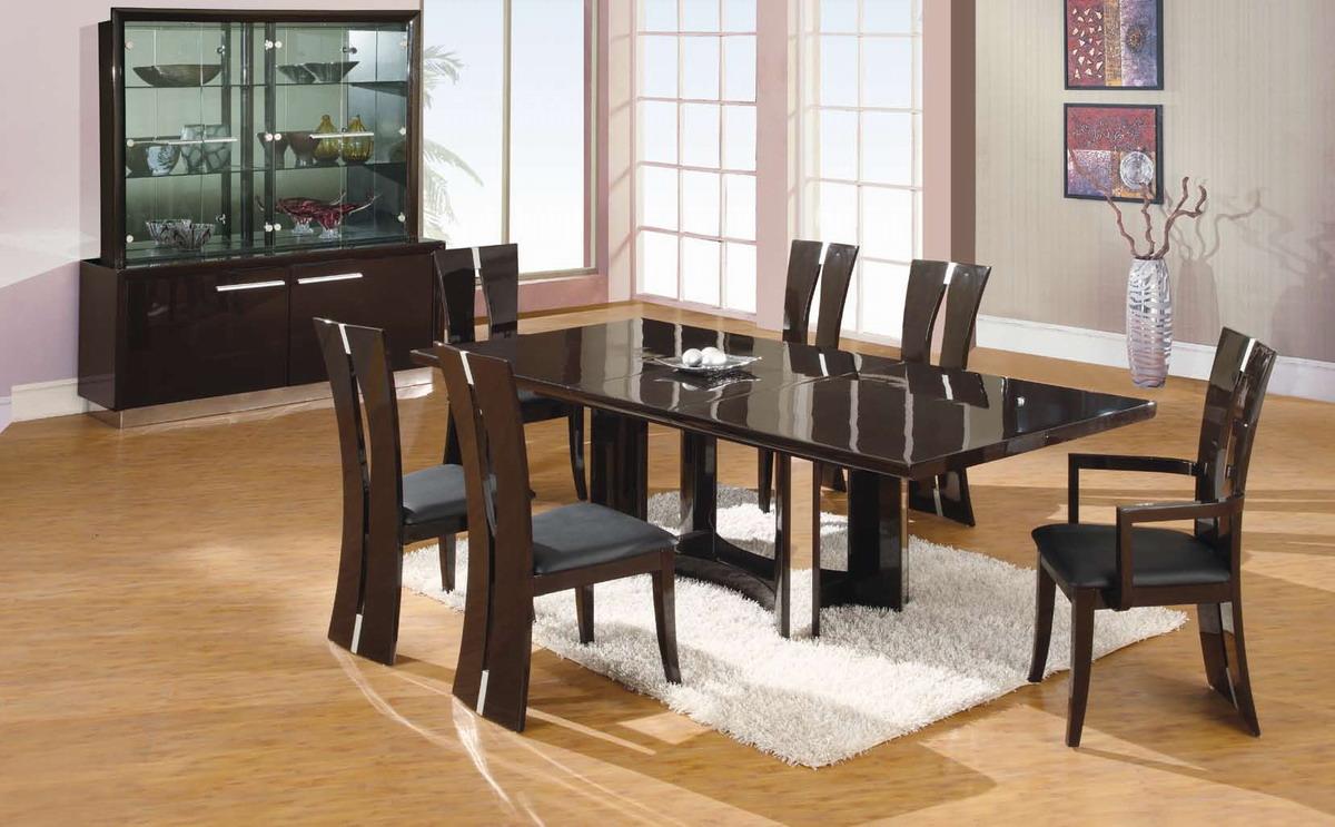 Global Furniture USA D59 Dining Set - Dark Brown