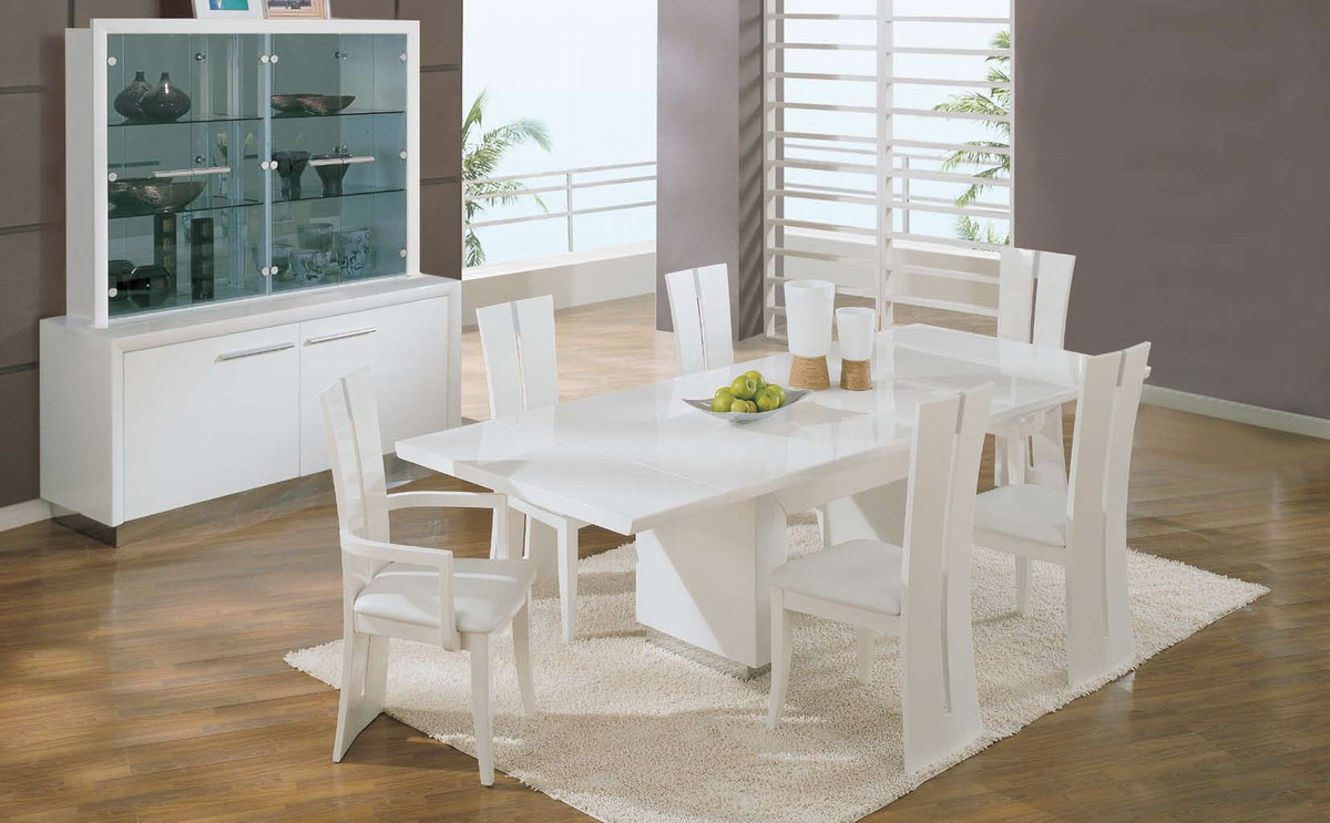 Global Furniture USA D99-Wh Dining Set - White
