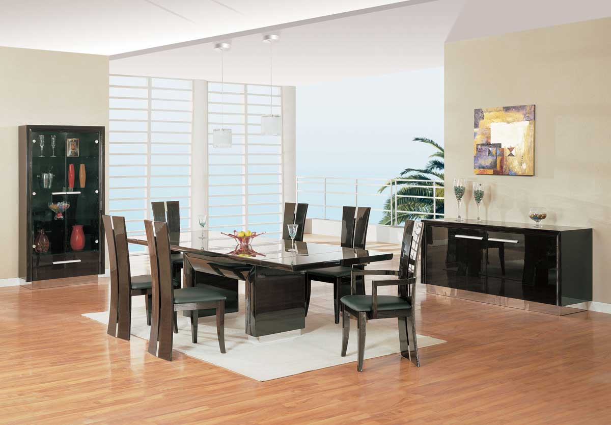 Global Furniture USA D99 Dining Set-Wenge and Chrome