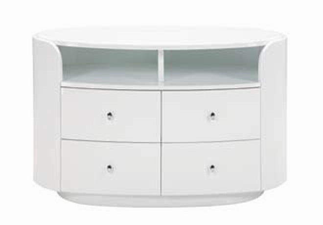 Emily Entertainment Unit - White - Global Furniture