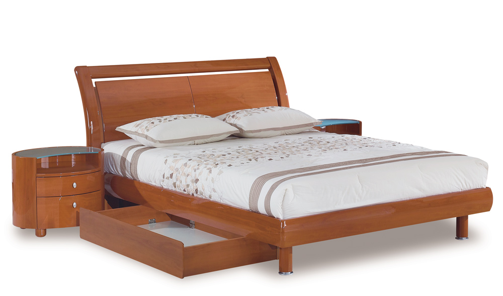 Global Furniture USA Emily Platform Bed - Cherry