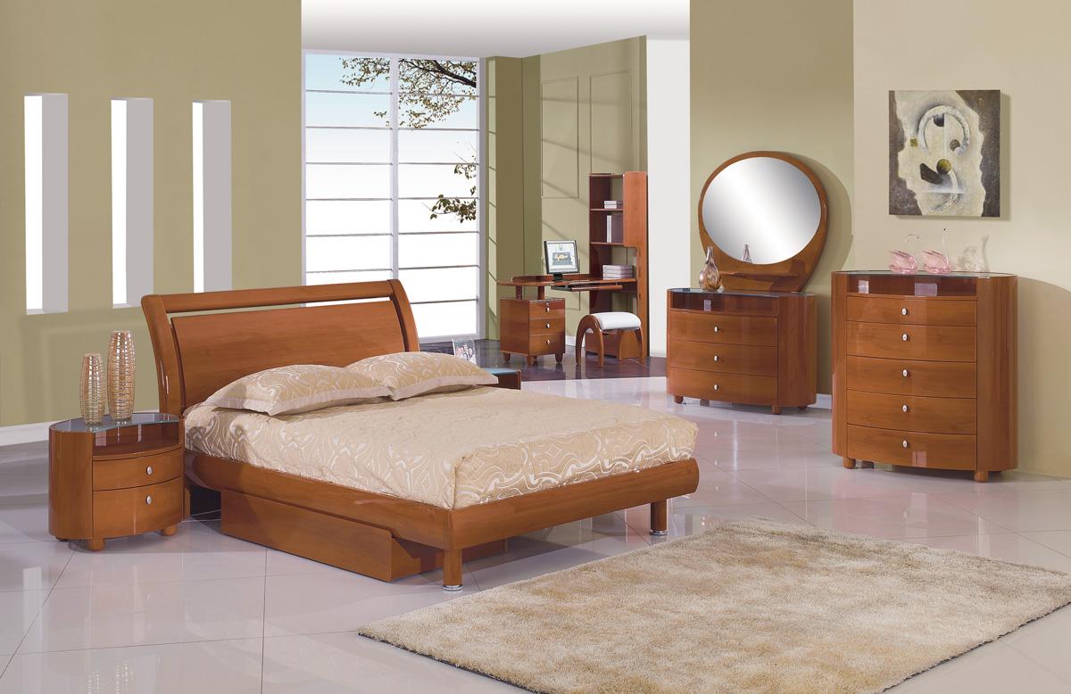 Global Furniture USA Emily Kids Platform Bed - Cherry GF-EMILY(B86 ...
