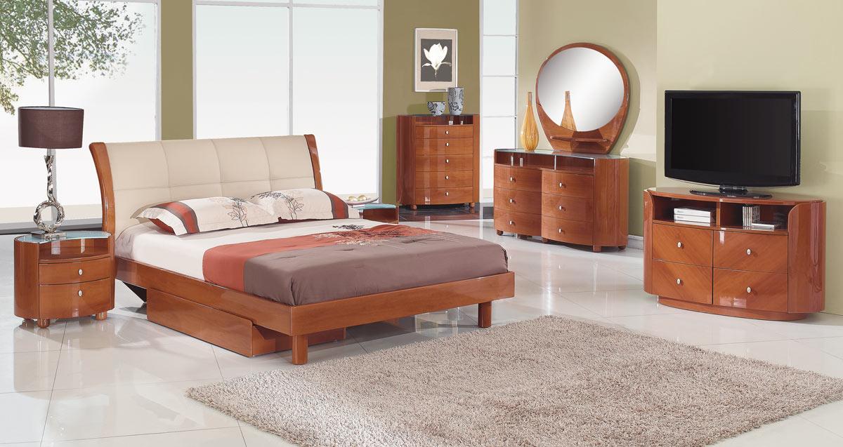 Global Furniture USA Evelyn Platform Bedroom Set - Cherry