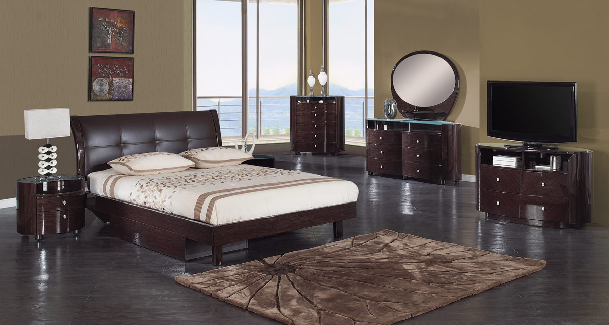 Global Furniture USA Evelyn Platform Bedroom Set - Wenge