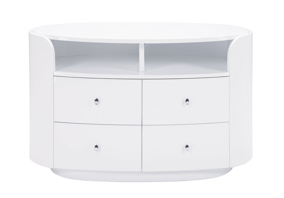 Evelyn Entertainment Unit - White - Global Furniture