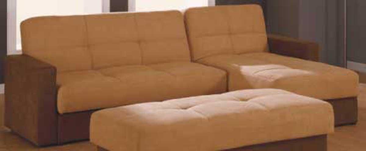 Cheap Global Furniture USA GF-F017 Sectional – Brown/Beige Microfiber