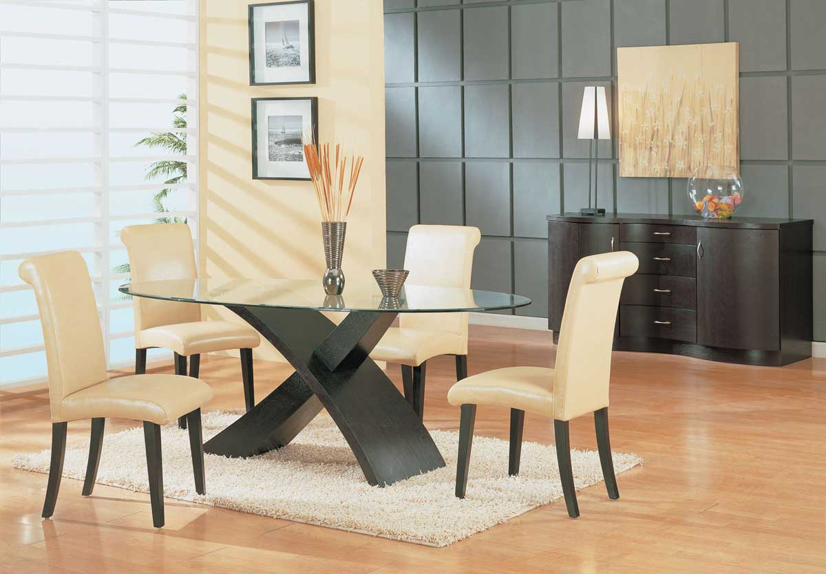 GF-G018 Dining Set-Wenge - Global Furniture