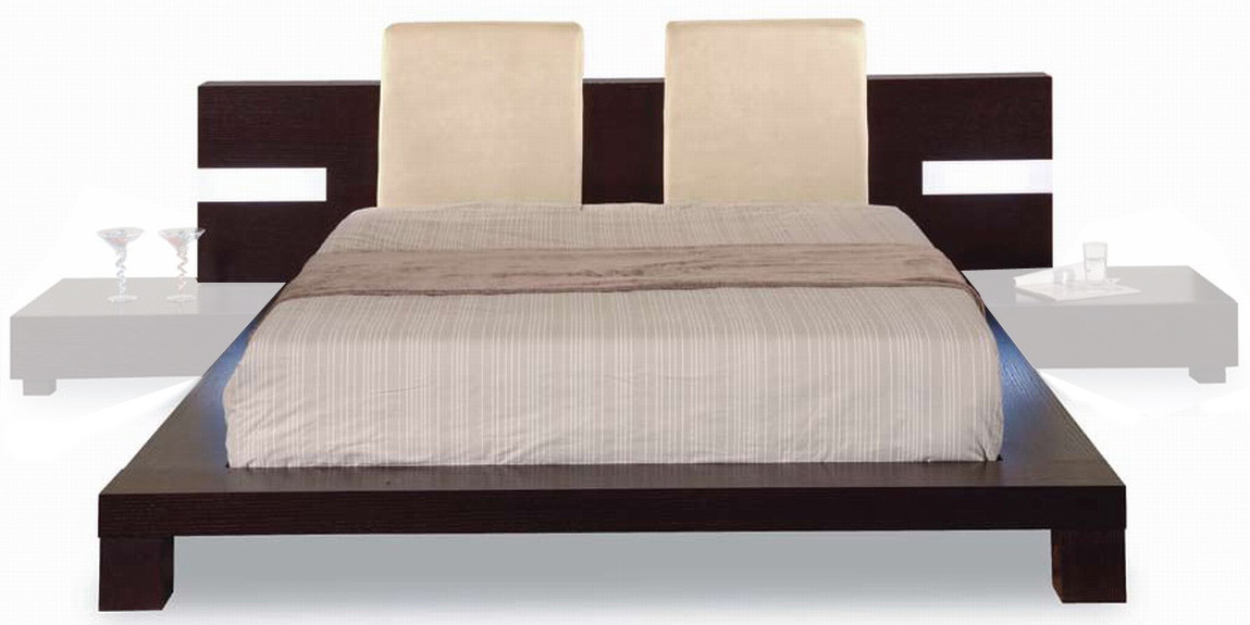 Global Furniture USA GF-G020 Bed - Beige/Wenge