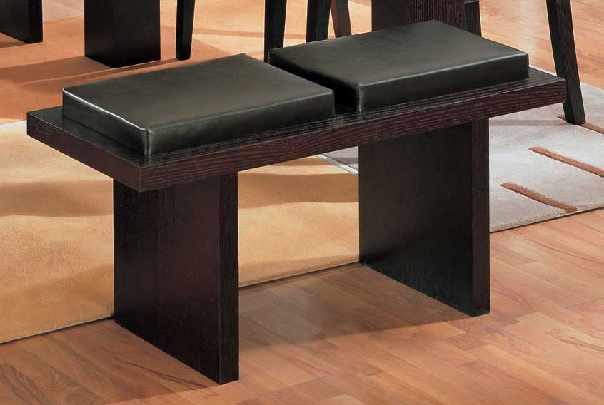 Cheap Global Furniture USA GF-G020 Bench-Wenge Leatherette Cushion and Wenge Wood