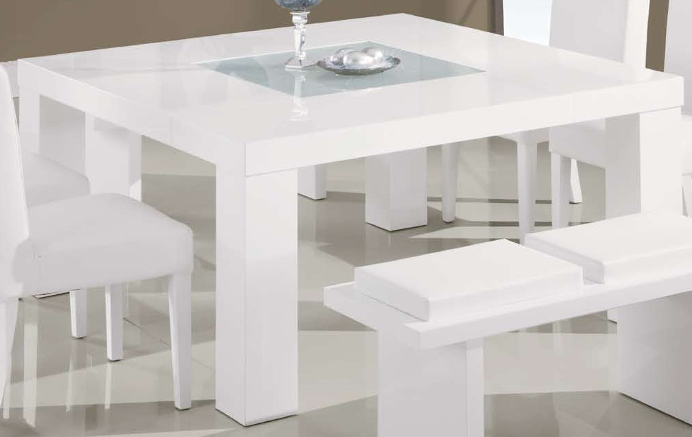 Global Furniture USA G020 Dining Table White GF DG020DT WH At