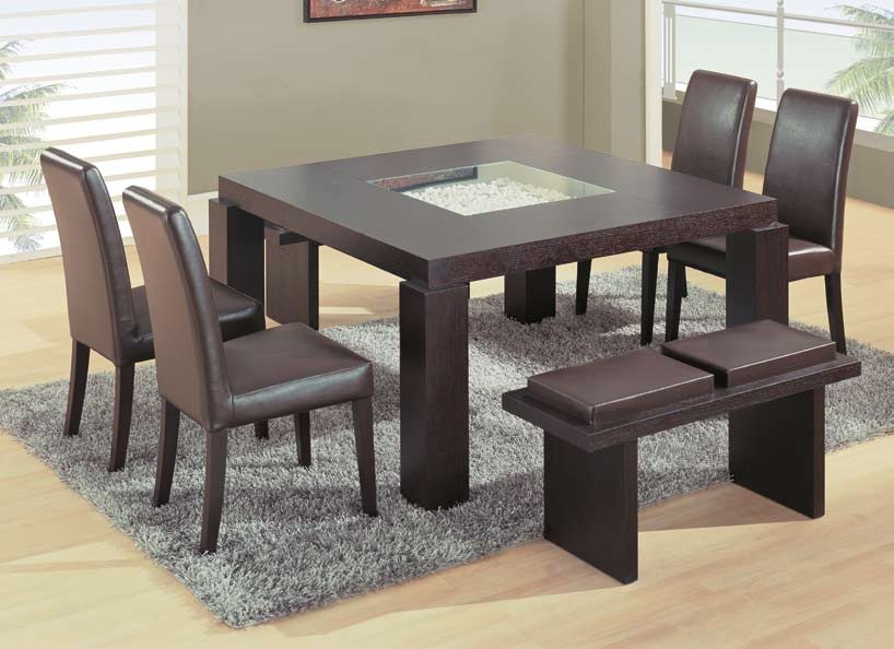 Global Furniture USA GF-G021 Dining Set - Wenge/Beige