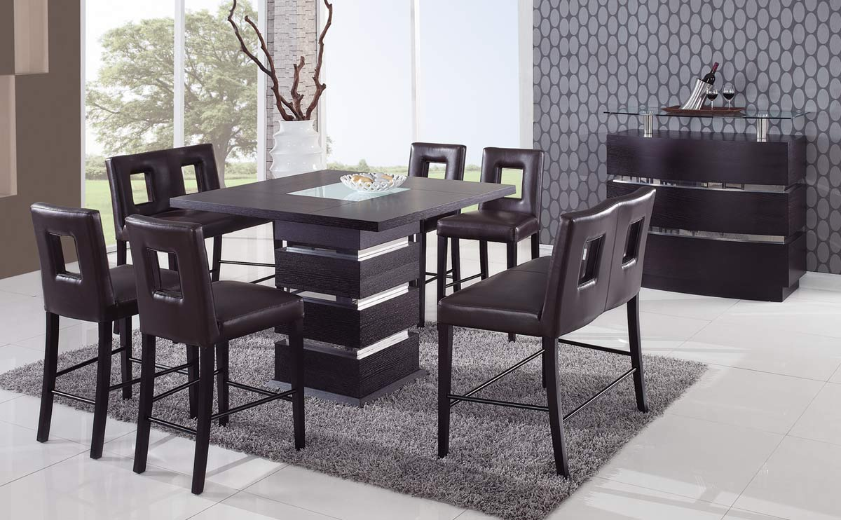 Global Furniture USA G072 Counter Height Dining Set   Brown