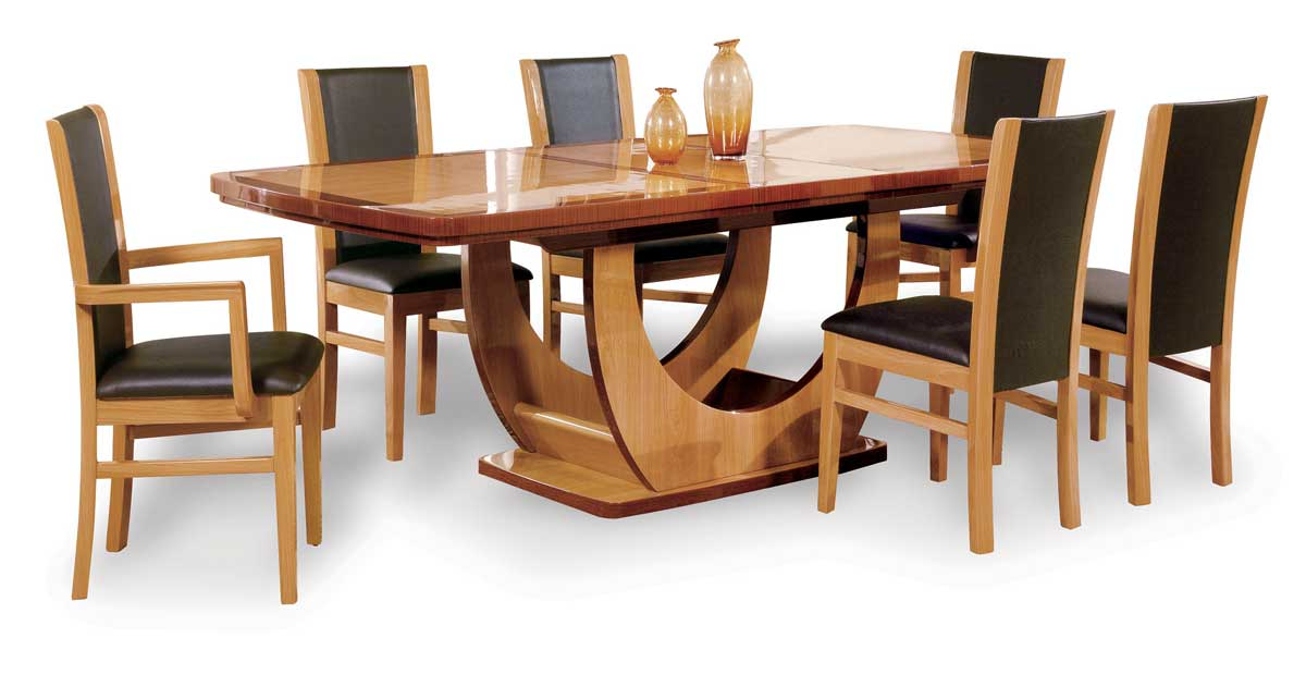 Global Furniture USA Greta Dining Set-Oak and Cherry