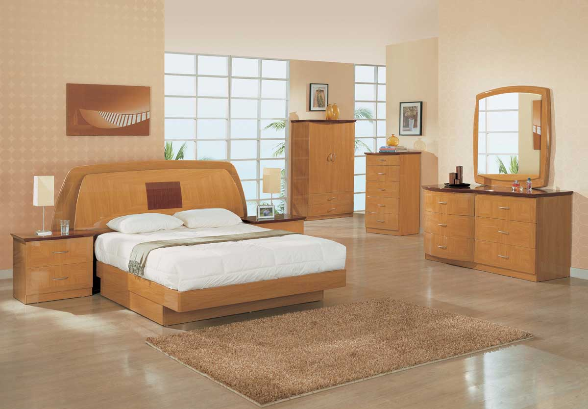 Global Furniture USA Greta Platform Bedroom Collection-Glossy Oak