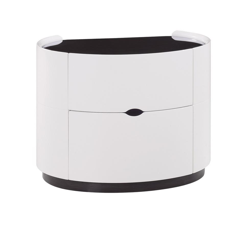 Global Furniture USA Gia Night Stand - White/Wenge