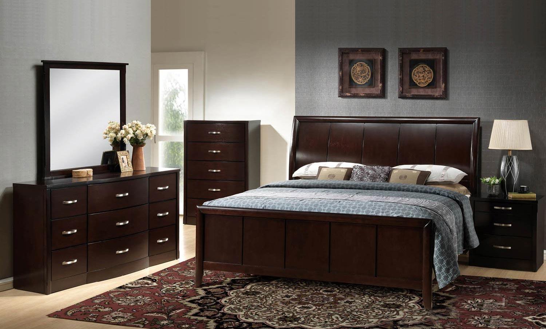 Global Furniture USA Hannah Bedroom Set - Dark Espresso