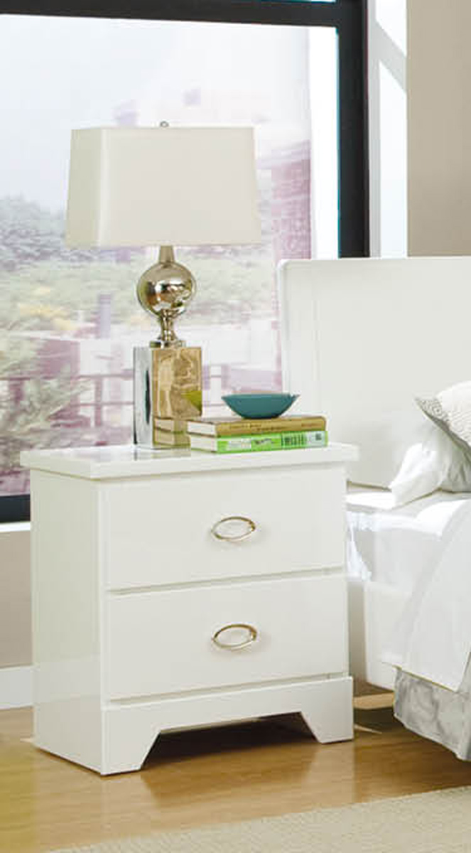 Global Furniture USA Khloe Nightstand - White