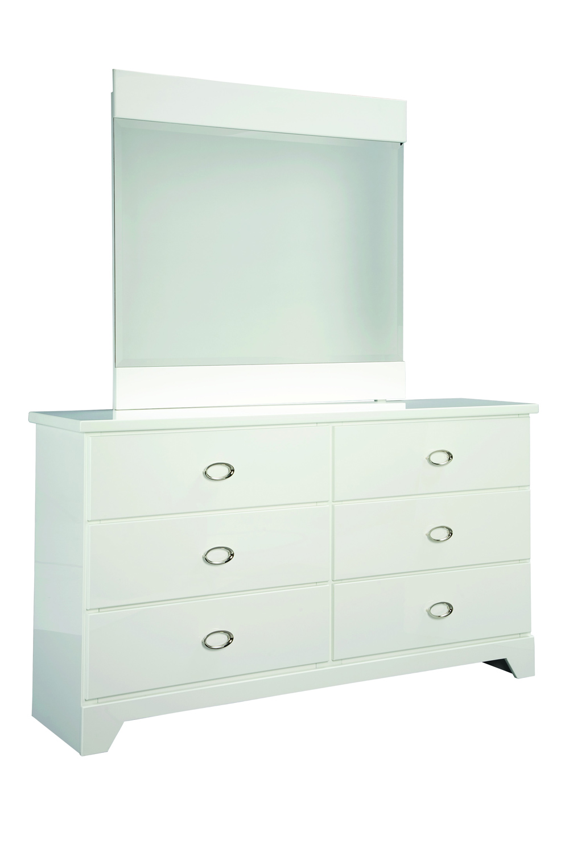 Global Furniture USA Khloe Mirror - White