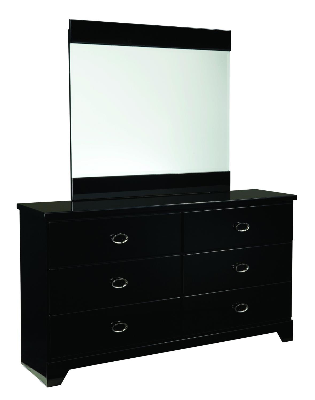 Global Furniture USA Khloe Mirror - Black