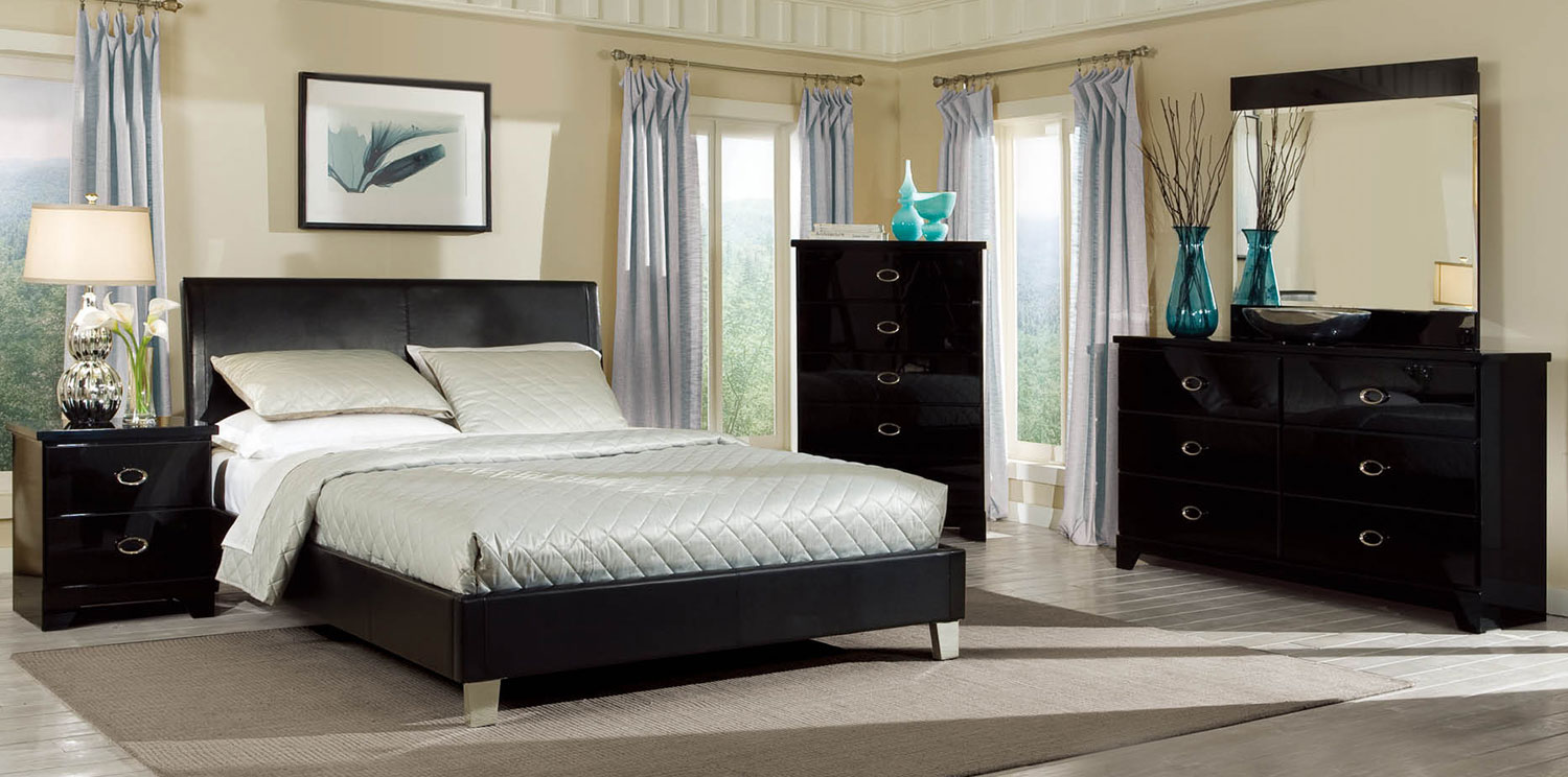 Global Furniture USA Khloe Bedroom Set - Black