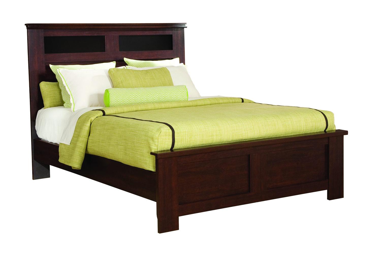 Global Furniture USA Leah Bed - Engineered Wood/Paper Veneer - Dark Cherry Merlot