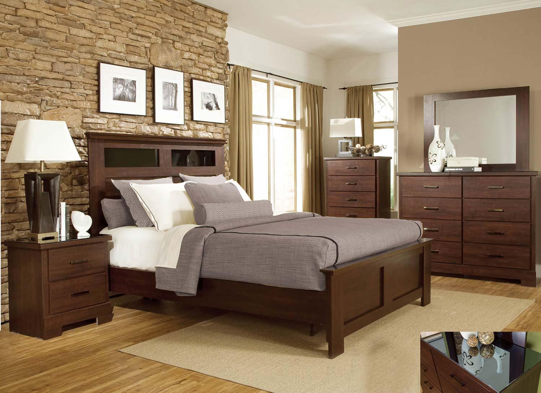 Global Furniture USA Leah Bedrrom Set   Engineered Wood/Paper Veneer   Dark  Cherry Merlot