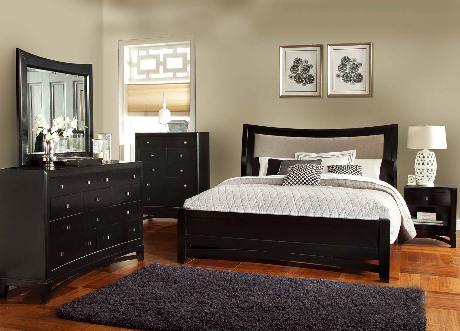 Global furniture usa madeline bedroom set black gf for Bedroom furniture usa