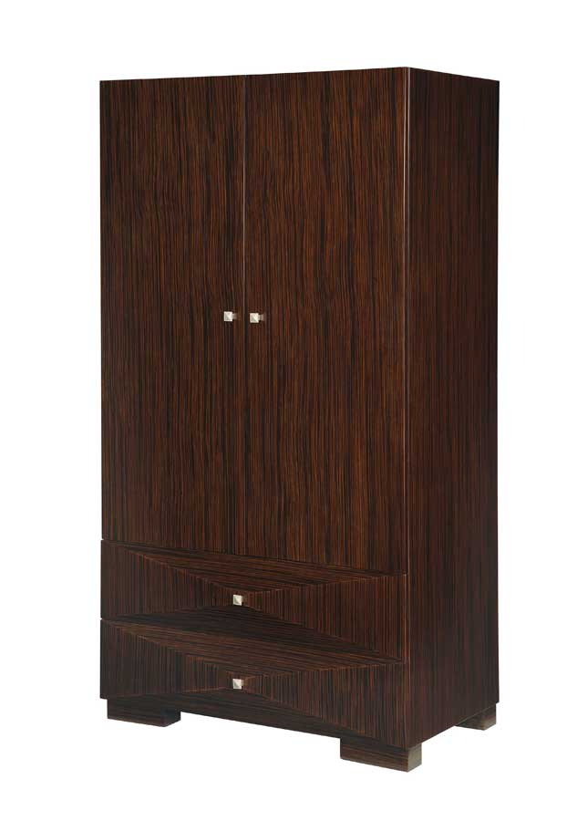 Global Furniture USA Milena Armoire-Zebrano