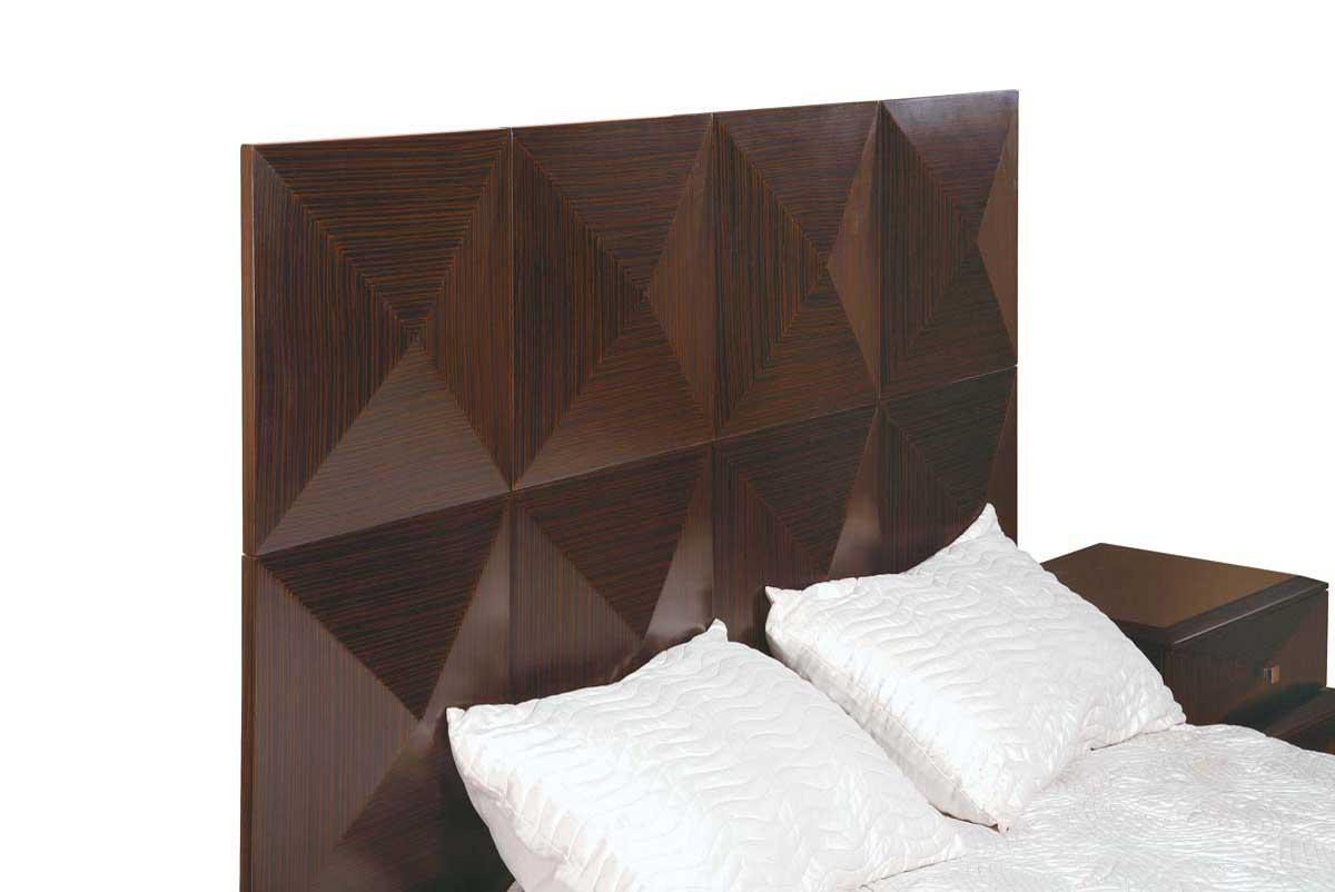 Global Furniture USA Milena Slat Bedroom Collection-Zebrano